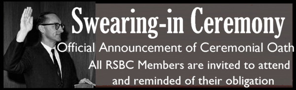 Official Swearing In of the RSBC
